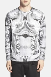 Eleven Paris Hova Print Raglan Sweater Gray