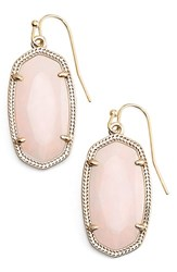 Women's Kendra Scott 'Dani' Stone Drop Earrings Gold Rose Quartz