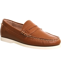 Ralph Lauren Bjorn Leather Penny Loafers Bourbon