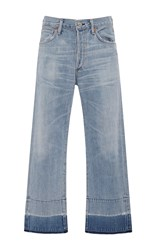Citizens Of Humanity Wide Leg Cropped Jeans Light Wash