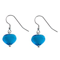 Martick Murano Glass Earrings Turquoise