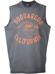 Dsquared2 California Muscle T Shirt Grey