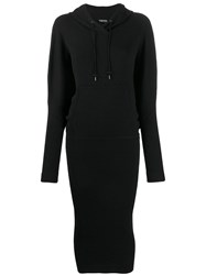 Tom Ford Fitted Hooded Dress Black