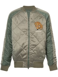 Mhi Maharishi Diamond Quilt Reversible Jacket Nylon M Green