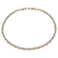 Cachet London Rose Gold Plated Swarovski Crystal Tennis Necklace