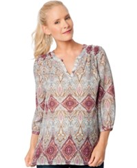 A Pea In The Pod Maternity Printed Blouse Paisley Print
