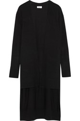 Dkny Step Hem Stretch Knit Cardigan Black