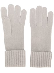 N.Peal Ribbed Gloves Nude And Neutrals