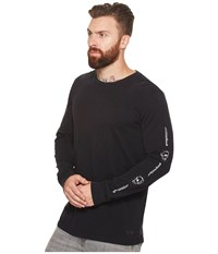 Globe Dion Pirate Long Sleeve Tee Washed Black Men's T Shirt