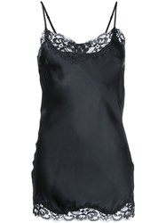 Gold Hawk Lace Trim Cami Top Women Silk Nylon M Black