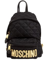 Moschino Md Quilted Nylon Backpack Black