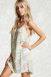 Forever 21 Abstract Print Cover Up Dress Lime Mint