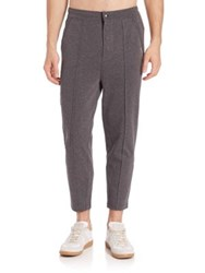 2Xist Cropped Cotton Sweatpants Charcoal