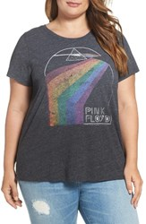Lucky Brand Plus Size Women's Pink Floyd Graphic Tee Onyx