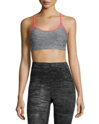The North Face Motivation Strappy Sports Bra Gray Red Gray Red