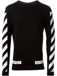 Off White Striped Sweater Black