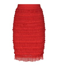 Givenchy Tulle Ribbon Skirt Female Red