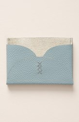 Anthropologie Yarrow Card Case Blue Green Turquoise