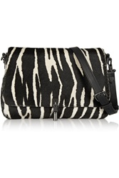 Elizabeth And James Cynnie Mini Zebra Print Calf Hair Shoulder Bag