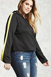 Forever 21 Plus Size Colorblock Hoodie Black Yellow