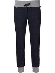 Capobianco Contrasting Waistband And Cuffs Track Pants Blue