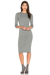Bella Luxx Crossed Rib Sweater Dress Gray