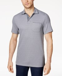 Tasso Elba Men's Supima Blend Striped Pocket Polo Only At Macy's Volcanic Glass