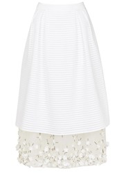 Mother Of Pearl Hudson White Embellished Midi Skirt