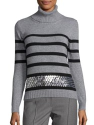 Aquilano Rimondi Long Sleeve Striped Sweater