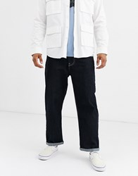 Brooklyn Supply Co. Co Wide Crop Skate Fit Jeans In Indigo Blue