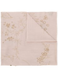 Janavi Bedazzeled Frogs Scarf Nude And Neutrals