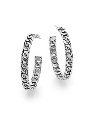 John Hardy Classic Chain Sterling Silver Medium Hoop Earrings