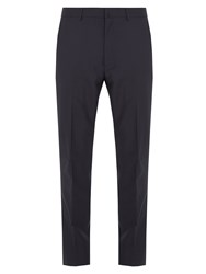 Acne Studios Boden Tapered Leg Wool Blend Tailored Trousers Navy