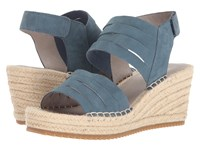 Eileen Fisher Largo Pond Tumbled Nubuck Wedge Shoes Green