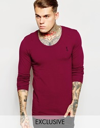 Religion Muscle Fit Long Sleeve Top Bloodred