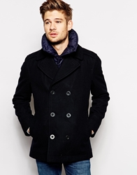 Esprit Peacoat With Detachable Gilet Navy