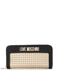 Love Moschino Logo Contrast Studded Wallet Black