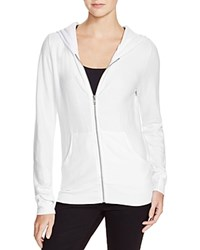 Wildfox Couture Wildfox Cozy Zip Front Hoodie White