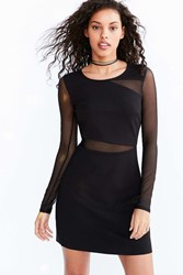 Silence And Noise Lightning Mesh Cutout Mini Dress Black