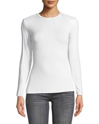 Bailey 44 Long Shot Textured Long Sleeve Jersey Top White