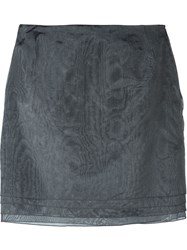 Romeo Gigli Vintage Layered Skirt Grey