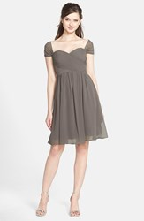 Women's Jenny Yoo 'Riley' Convertible Chiffon Dress Charcoal