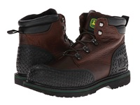 John Deere 6 Lace Up Steel Toe Dark Brown Men's Work Lace Up Boots