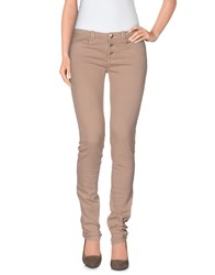 E Go Denim Denim Trousers Women Skin Color