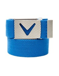 Callaway Golf Chevron Buckle Cotton Woven Belt Magnetic Blue