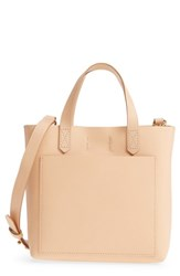 Madewell Small Transport Leather Crossbody Beige Linen