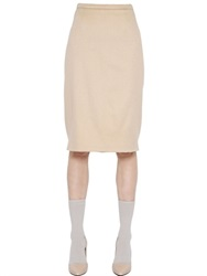 Max Mara Camel Pencil Skirt