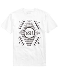 Young And Reckless Men's Native Customs Graphic Print T Shirt White