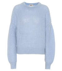 Baum Und Pferdgarten Chuden Mohair And Wool Blend Sweater Blue