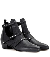 Jimmy Choo Harley 30 Leather Cut Out Boots Black